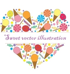 A sweet card for your text vector image vector image