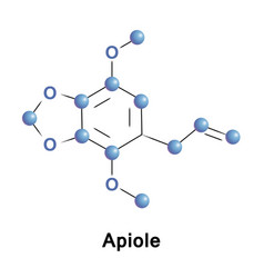 apiole is phenylpropene apiol vector image vector image