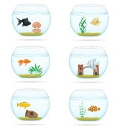 aquarium with fish 07 vector image vector image