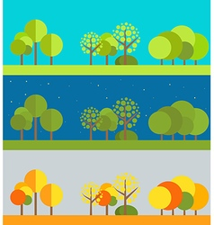 Different wheather flat design set vector image