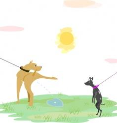 dog love vector image