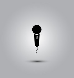 microphone - icon vector image