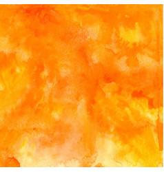 orange abstract hand drawn watercolor vector image vector image