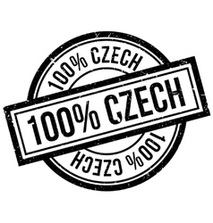 100 percent czech rubber stamp vector