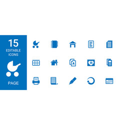15 page icons vector image