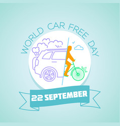 22 september world car free day vector