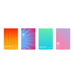 Abstract creative cards placards posters set vector