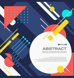 abstract of colorful tech retro pattern geometric vector image