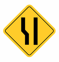 additional lane ahead road sign vector image