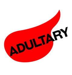 Adultery sticker stamp vector