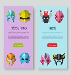Alien monster masks incognito and hide vector