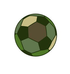 Army sport ball isolated green military balls for vector
