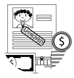 banking lending icon vector image
