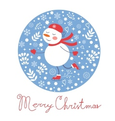 Beautiful Christmas card with frostie girl ice vector