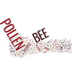 Bee pollen supplements text background word cloud vector