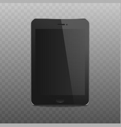 black tablet mockup with realistic blank screen vector image