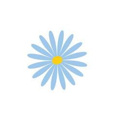 Blue flower icon vector