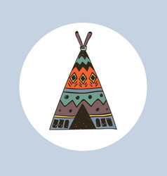 boho collection with wigwam vector image