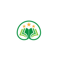 book star education logo vector image