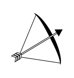 bow arrow equipment vector image