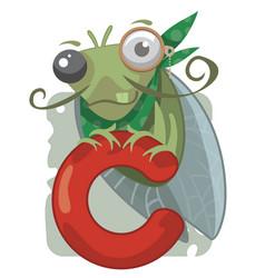 c letter cicada vector image