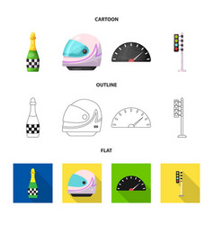 Car and rally icon vector