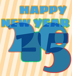Childish New Year card with 2015 sign vector