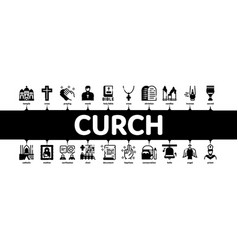 Church christianity minimal infographic banner vector