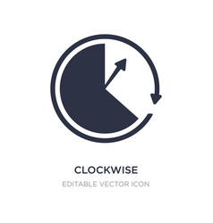 Clockwise icon on white background simple element vector