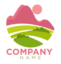 company round promo emblem template vector image