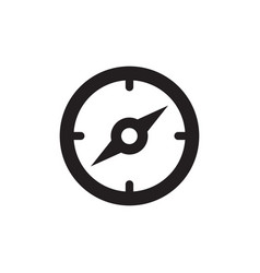 compass icon in flat style icon for apps ui vector image