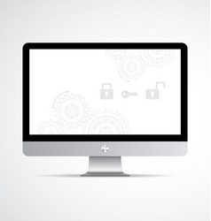 Computer modern display vector