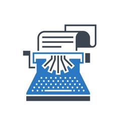 copywriting glyph icon vector image