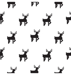Deer black and white kid scandinavian pattern vector