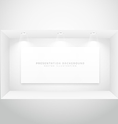 display window with presentation picture frame vector image