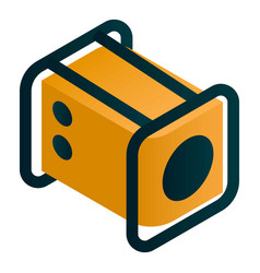Electric motor generator icon isometric style vector