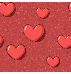 Elegant seamless with red cartoon hearts vector image