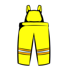 firefighter pants icon icon cartoon vector image