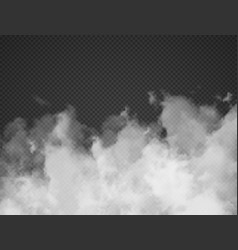 fog smoke cloud isolated on transparent background vector image