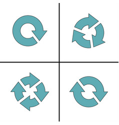 four arrow pictogram refresh reload rotation loop vector image