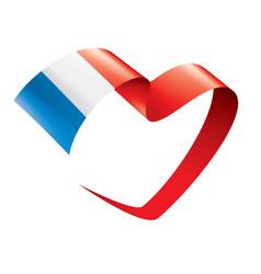 France flag on a white vector