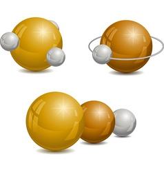 Golden spheres vector
