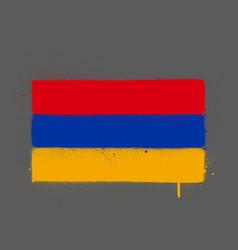 Graffti armenia flag sprayed over gray vector