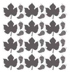 grape leaves seamless pattern design vector image