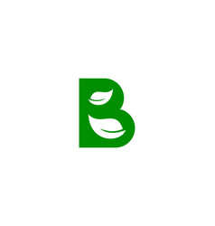 Green letter b logo icon design vector