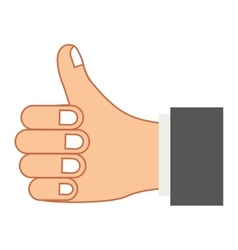 Hand colorful with gesture ok and sleeve gray vector