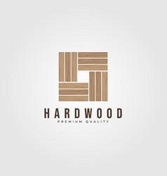 hardwood parquet logo design wood floor vector image
