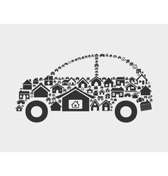 House the car vector image