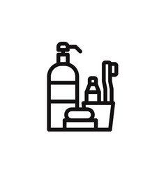hygiene items icon vector image