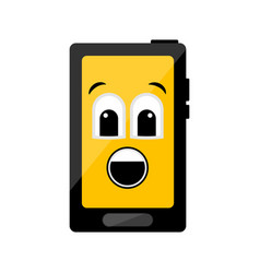 isolated surprised cellphone emote vector image
